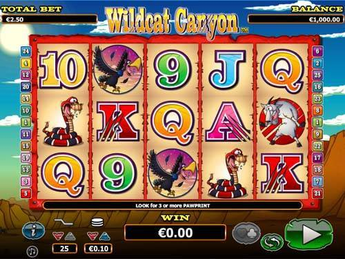 Wildcat Canyon free slot