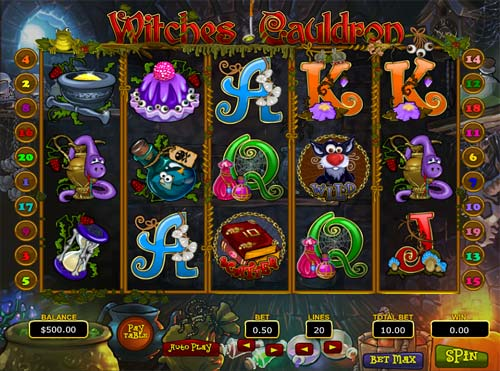 Witches Cauldron videoslot