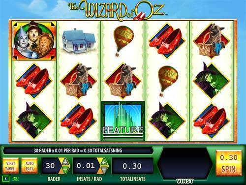 The Wizard of Oz free slot