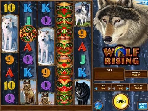 Wolf Rising videoslot