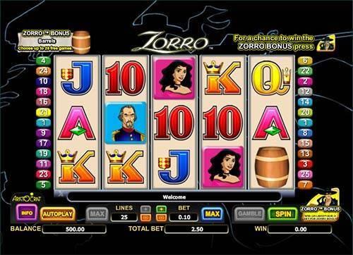 Zorro free slot